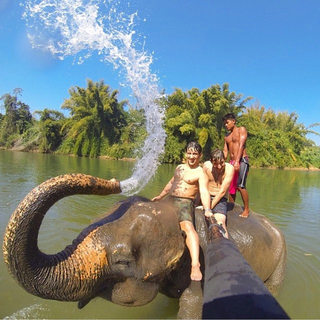WangPo elephant ride in Thailand! Which one of your friends would you take with you?! • Kameleonz.com • #goprooftheday #goprouniverse #goproselfie #goscope #gopole #surf #gopro_alive #surfing #basicallysponsored #surfer #hero #hero4 #gopro #scubadiving...