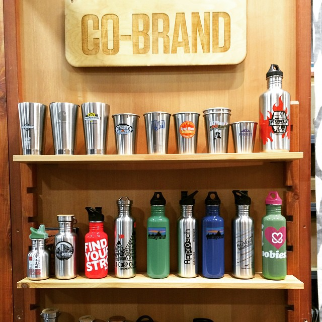 Can you spot the @bcorporation co-branded bottle made by our friends @kleankanteen ? @outdoorretailer #BtheChange