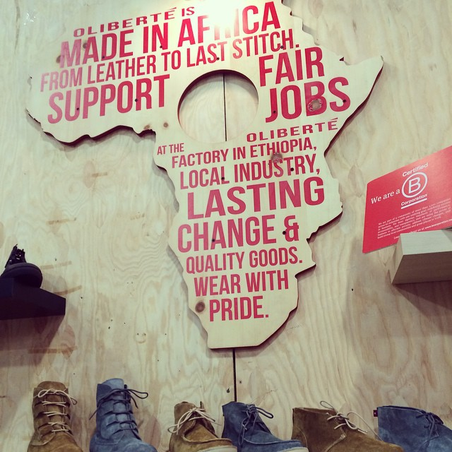 @oliberte Fair Trade shoes at @outdoorretailer committed to using business as a force for good. Did you know they're the world's only Fair Trade Certified footwear manufacturing factory? B Corps are leaders. #BtheChange
