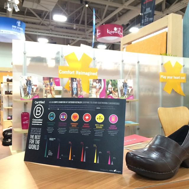 Name this B Corp ... Here are a couple clues: 100% Employee Owned and they make the most comfy shoes on the planet if you're on your feet most the day. #BtheChange @outdoorretailer