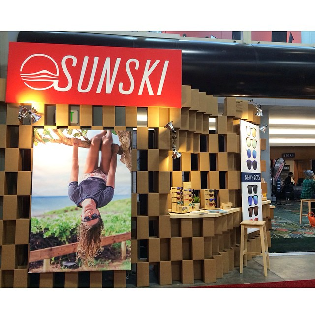 The Sunski booth is firing on all cylinders! Come swing by #158 to say hi and catch a sneak peek of our new styles --