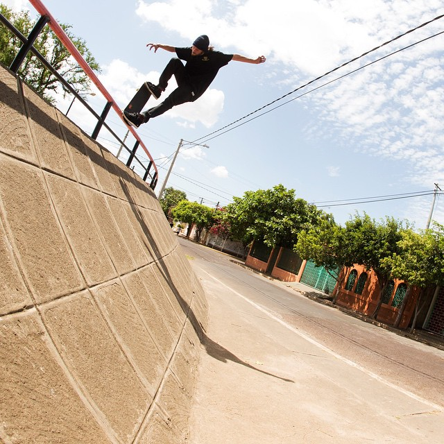 @berrics #populist2014 nominee @toreypudwill gets a crooked grind while filming in Nicaragua.  Watch Torey's year in review video and vote for your favorite skater of 2014 now on theberrics.com.  P: @yoonicorn213