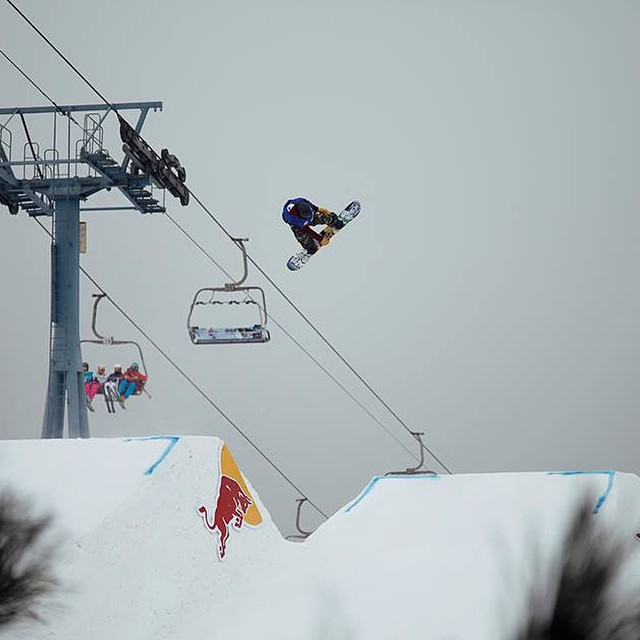 @eric_beauchemin spinning his way to a 2nd Place podium finish at the @redbull #NanshanOpen in Beijing, China. #flux #snowboard #snowboarding #fluxbindings ❄️