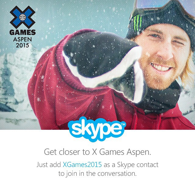 To join the ❌ convo, add XGAMES2015 on @skype.  The best comments and questions will appear on our #XGamesExtra show!