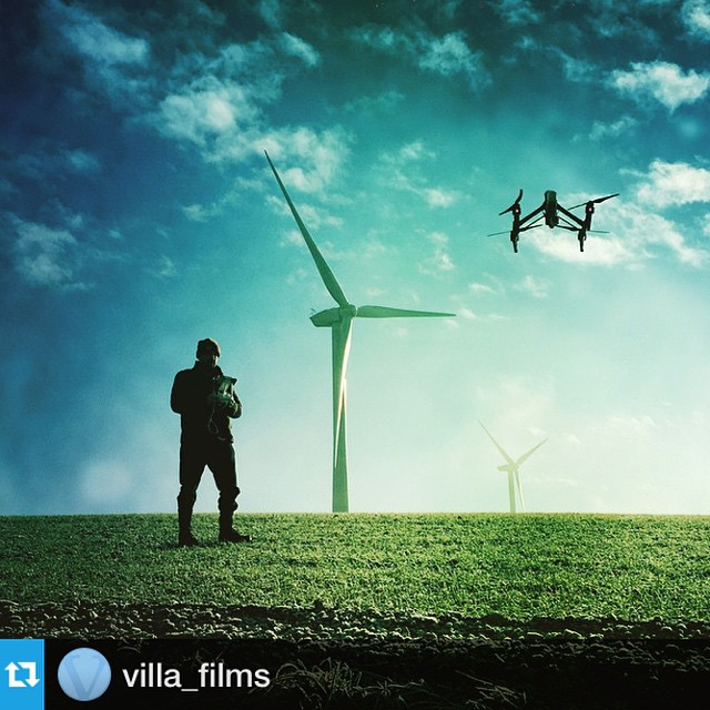Great shot by @villa_films while filming in #Yorkshire  #4k #DJI #inspire1 #drone #villafilms #uk #windenergy