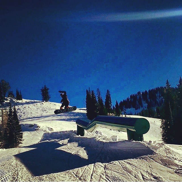 Newest team member Nick Kolkman (@nick.kolkman) with a lengthy back three gap on the Milly tubes at @brightonresort...Welcome to the team buddy! photo by @landbum