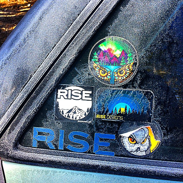 Some stickers withstanding the test of time and elements of Tahoe. #RISEdesigns #tahoe