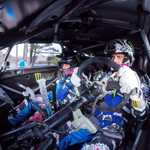 Photo of the Day! @kblock43 getting in some seat time at 100 Acres Rally in Missouri.