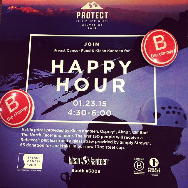 Happy Hour at #OutdoorRetailer tonight with our friends at @kleankanteen showing off their #BCorp love #BtheChange booth: 3009