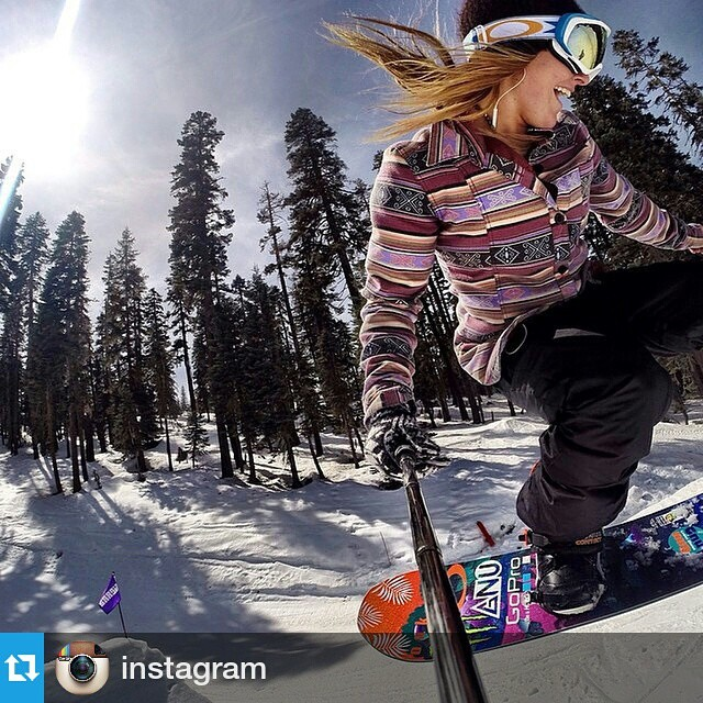 "#Repost @instagram ・・・ ""I literally feel like I'm flying,"" says Jamie Anderson (@jamieanderson) of the feeling of getting airborne while racing down mountains on her snowboard. ""I love hitting jumps. It brings me so much joy."" Jamie is the world's top..."