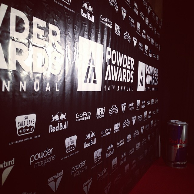 Red carpet at the #powderawards. Who do you think is going to win? @powdermagazine @redbull @skisaltlake @sierranevada @kruvodka @snowbird