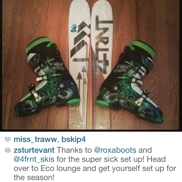 @zsturtevant has the best ski/boot combo for park skiing on this planet. Give him a follow and drop by Ecolounge in Boise to pick up a pair of Freesoul 10s for yourself!