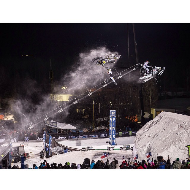 @colt45moore and @levi_lavallee battled it out in Speed & Style!  Night one of #XGames Aspen is in the books. (