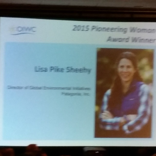 Inspired by the pioneering woman award winner, Lisa Pike Sheehy of @patagonia, at the @oiwc breakfast at #ORshow