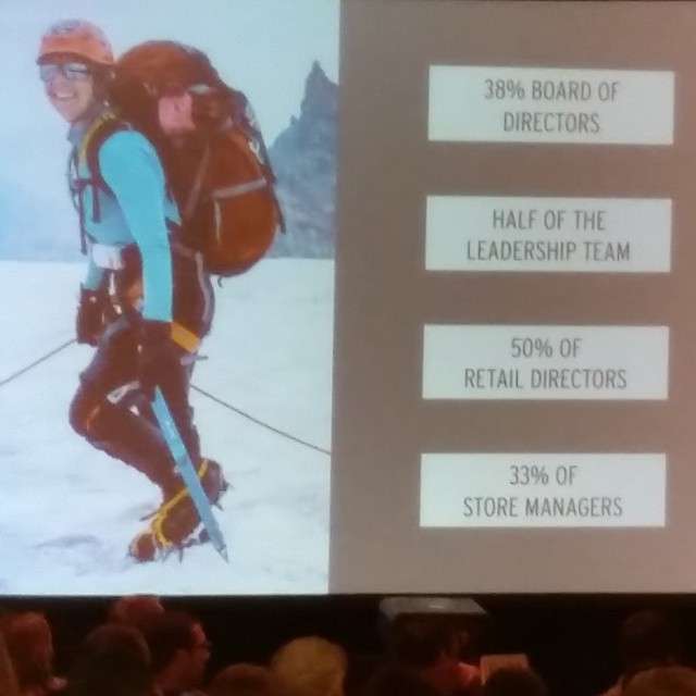 @rei CEO promoting a pledge to commit to promote opportunities for women within companies in the outdoor industry #ORshow @oiwc
