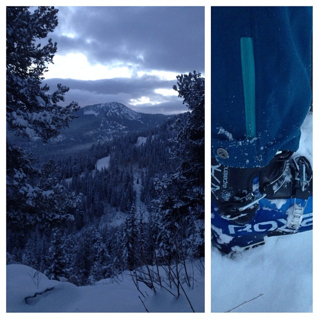 First turns of the season in the #Xface at @skisolitude #GETSOME