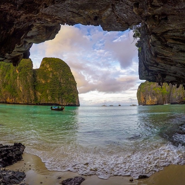 "Photo of the Day! @markdgaal says, ""Waking up on 'The Beach' at Maya Bay."""