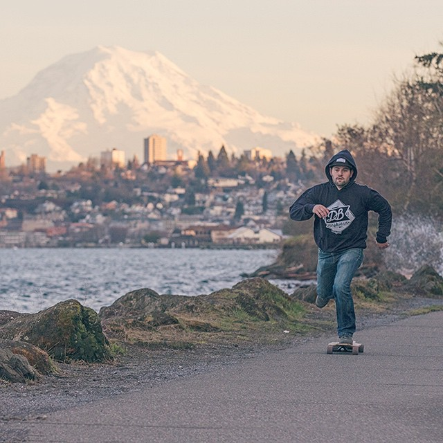 It's Friday. Leave work or school early and go for a skate. #longboard #longboarding #longboarder #dblongboards #tacoma #tacoma_wa #cruise #justgoshoot #goskate #shred #rad #stoked #skateboard #skateboarding #pnw #mtrainier #mountrainier pnw #upperleft...