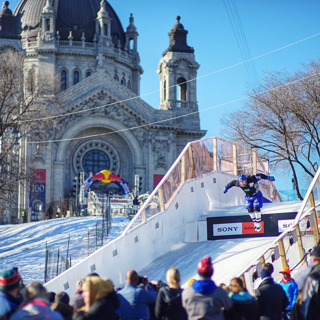 Our team is also out at the Redbull Crashed Ice event in Minnesota! If you are there stop by the merch booth to see the Redbull Crashed Ice SnapBack!