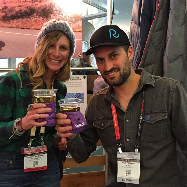 Cheers to a great #ORShow with @goodpeoplelife! Found some awesome brands to add to the marketplace + got a sweet new #beerblanket from @rumpl! #outdoorretailer #utah #goodpeople #goodpeoplelife