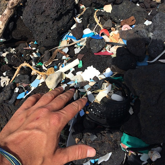 At the epic center of marine debris...South Point, Hawaii. Moved by the amount of plastic strangling the beaches, and motivated to keeping pushing forward! Please refuse plastics, find alternatives and recycle. Our oceans need everyone's help! Thanks...