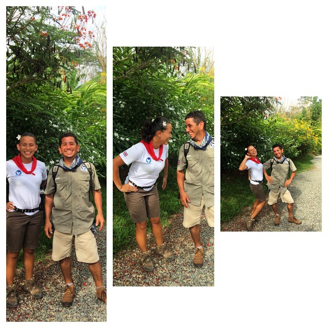 Noilyn and Wayner - local guides who lead the community walking tour, teaching about different plants and animals around the area as well as some of our little town's history in a VERY fun and energetic way. Don't they remind you of Dora and Diego?...