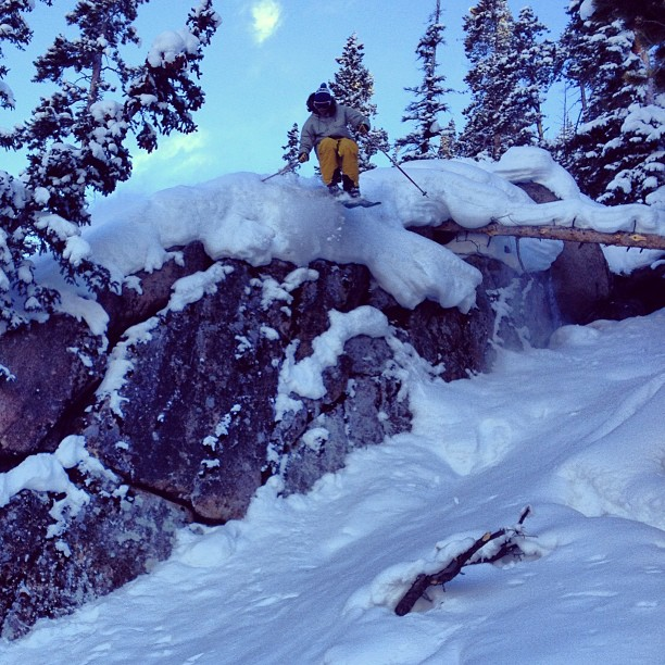 Ryan doin some arial #treedodging @winterparkresort