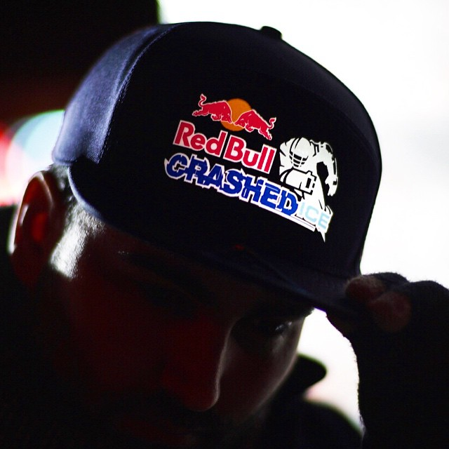 The new RedBull Crashed Iced #snapback hats are one of a kind! Tune in today at 4pm to see the finals! #Lumativ #Redbull #crashedice