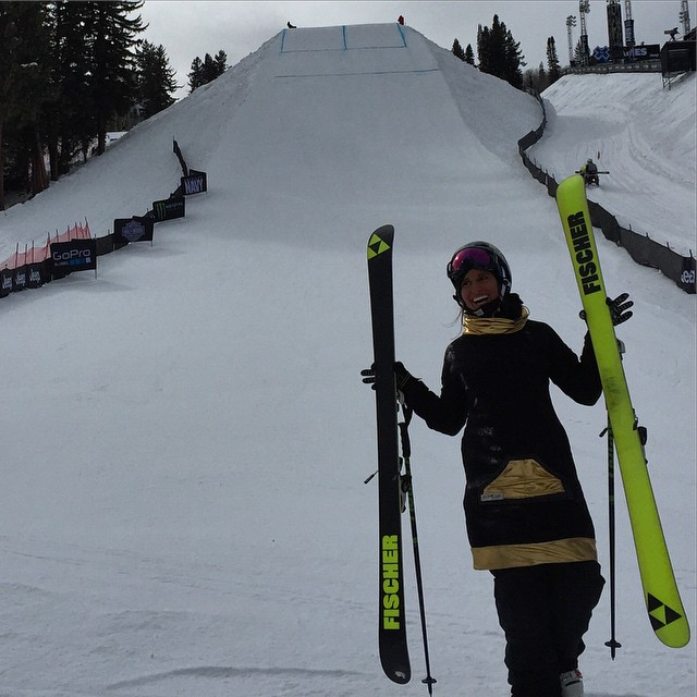 @ashleybattersby and the rest of the ladies finishing up practice and getting ready to shred this slopestyle course @xgames #Aspen #buttermilk #colorado #xgames #skiing #sisterhoodofshred