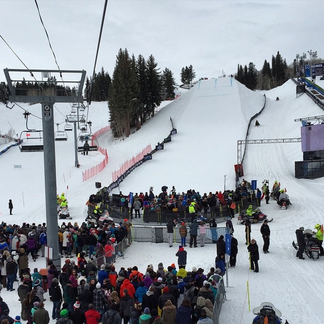 Whoop! Women's Ski Slopestyle about to go down here @xgames #Aspen #skiing #winter #xgames #skiing #buttermilk
