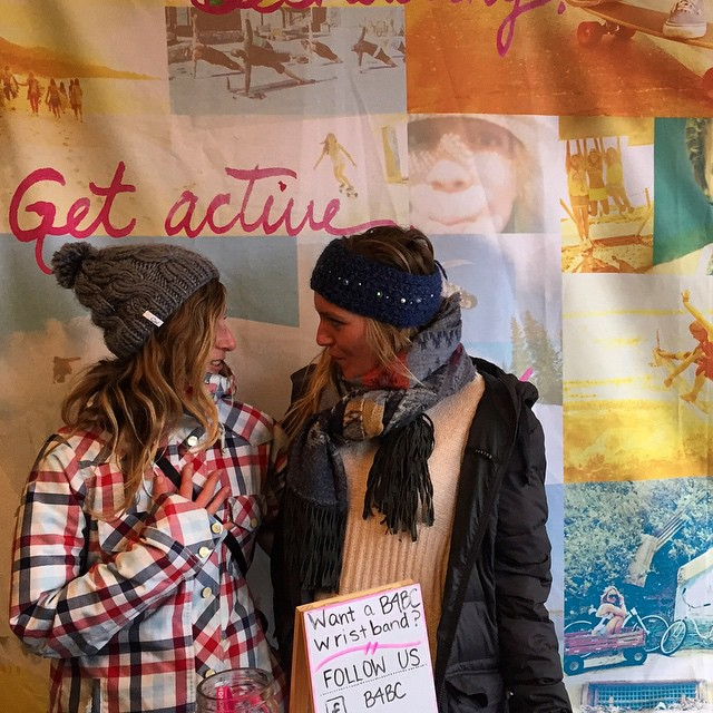 Having a moment with @jamieanderson at the @b4bc booth - thanks @lizatags for the shot! #xgames #Aspen #colorado #goodpeople #goodpeoplelife #snowboarding #sisterhoodofshred
