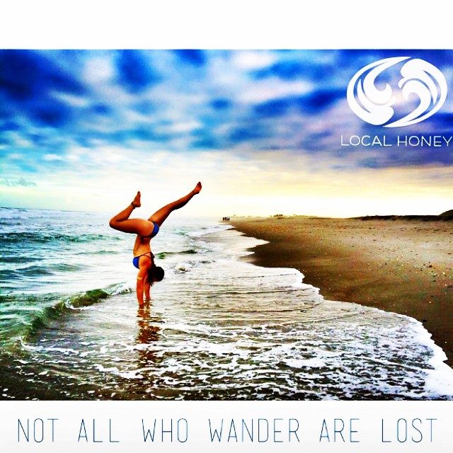 Not all who wander are lost ✨  Great shot! @nautilussup #localhoneydesigns #inspiration #natalizollinger #riverfox #riverguide #roadwarrior #bananariver #beach #sand #handstand #armbalance #adventure #cocoabeach #fitness #florida #moab #utah #yogi #love