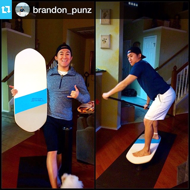 Thank you for the photo @brandon_punz! #balanceboard #balance #sup #paddleboard • • •