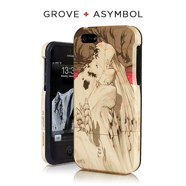 "Just launched: @grovemade + @asymbol ""Rooster"" iPhone 5/5s case featuring artwork by Adam Haynes. Limited Edition of 24. Get yours: http://Asymbol.co #handmade"