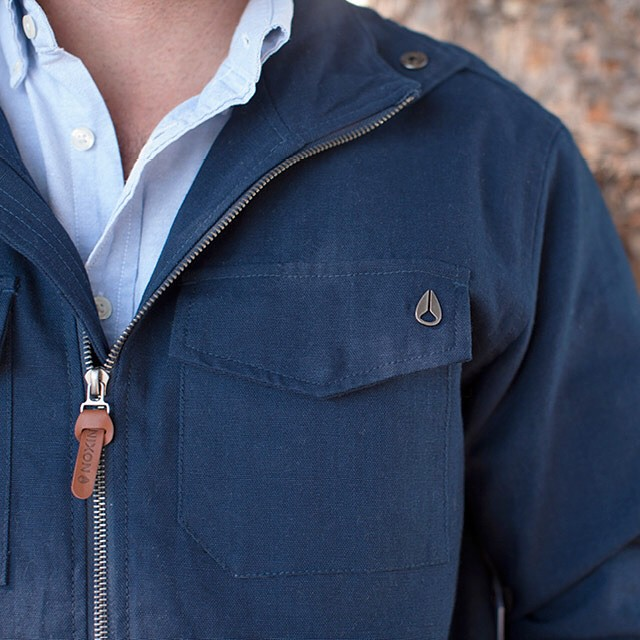 The finishing touch.  The Admiral Jacket in Navy, new from Nixon.  Shop now with free shipping and returns on nixon.com (link in bio: @nixon_now). #nixon