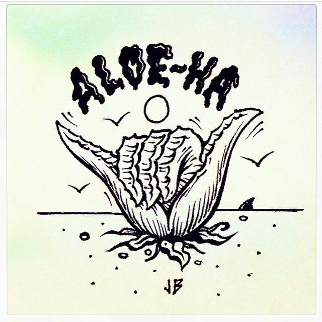Aloe-Ha Domingo x @jamiebrowneart #FeaturedArtist #Volcom #Art