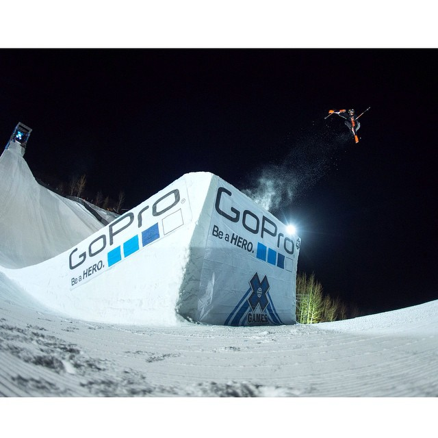 @vincentgagnier the man on top of @gopro Ski Big Air!  Get ready for a huge Sunday Funday to close out #Xgames Aspen. Kicking things off with Women's Snowboard Slopestyle. (
