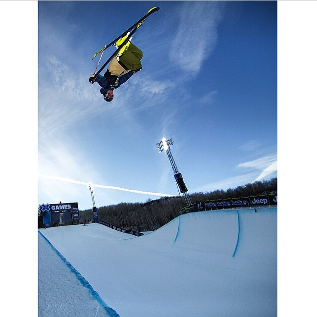 Watch Dave compete in @xgames superpipe final today at 2:45 MDT