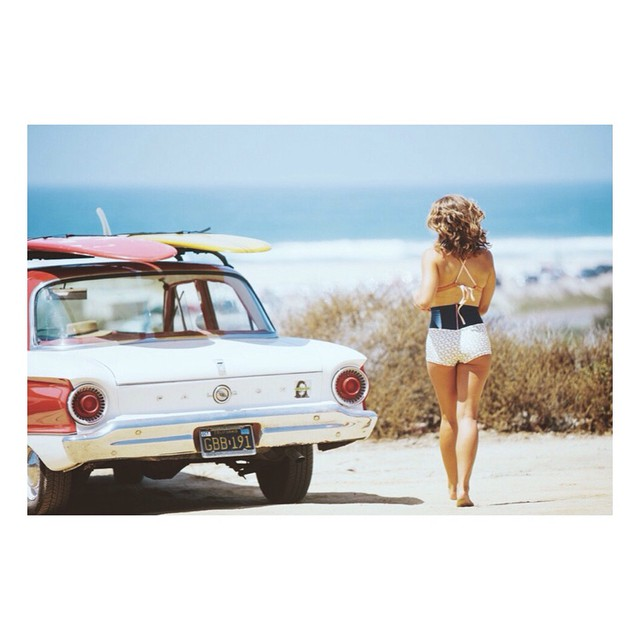@karinarozunko in the #seealeucadia surf bikini shot by @nick_lavecchia || #myseealife #seeababes