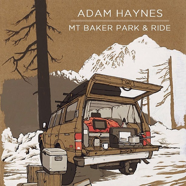 New Adam Haynes (@stickfort) artwork @asymbol now that the lifts are running at Baker for a new season #winterisnow check it at Asymbol.co