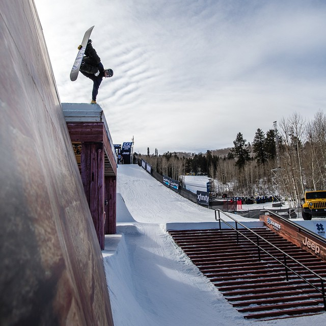 The boys are throwing down out there in Snowboard Slope! Flip over to @espn and enjoy. #Xgames (