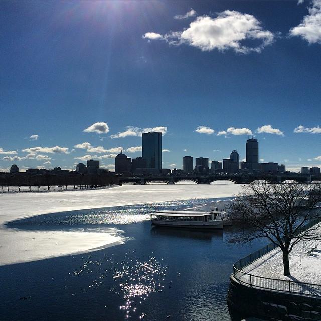 Calm before the storm. Batten down the hatches.❄️ #boston #cityscape #tundra #frozen #winter #scenery