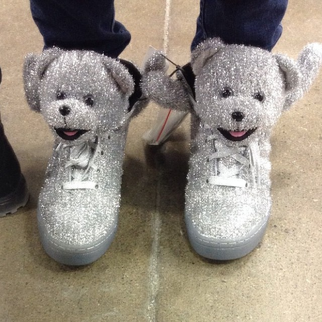 Would you #skate these #shoes? Sparkles for extra Ollie grip & durability & bears for ankle protection.