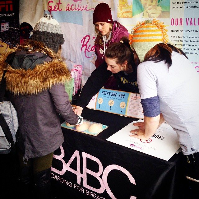 Have you learned how to #checkonetwo at our educational outreach booth at #XGames yet?  Learn how to do a breast self-exam and set your monthly BSE reminder by downloading our free #B4BC app for iPhone and Android!  Get it here: www.bit.ly/appb4bc