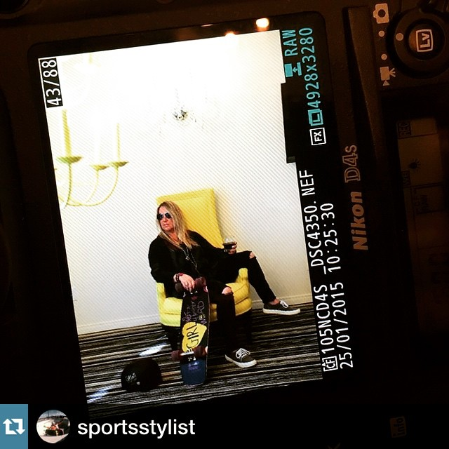 This girl has all the fun!! Photo shoot with @girlisnota4letterword for her collab helmet with @xshelmets and board with @dusterscalifornia #glamlife #Repost @sportsstylist ・・・