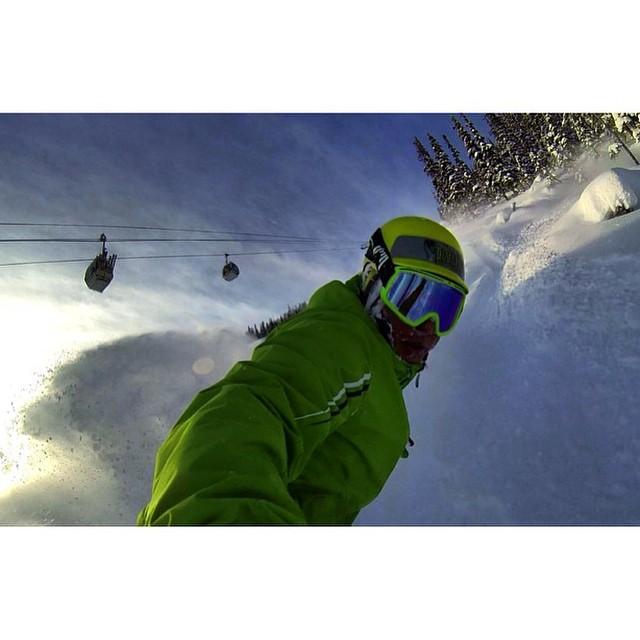 Team rider from #Canada @goldenrider420❄️#FrostyHeadwear #Snowboarding #GoPro