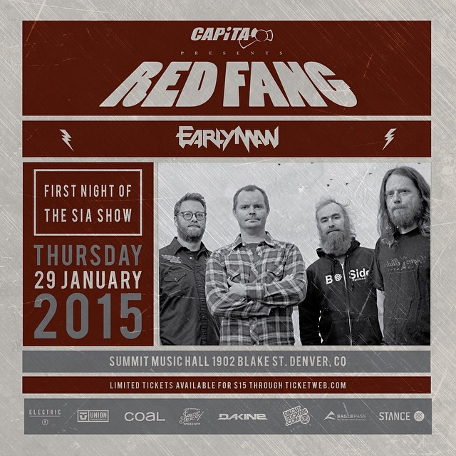 Join us this Thursday for a face melting night with @redfangband after the @siasnowsports in Denver. Metal, mayhem and #fineliving await.