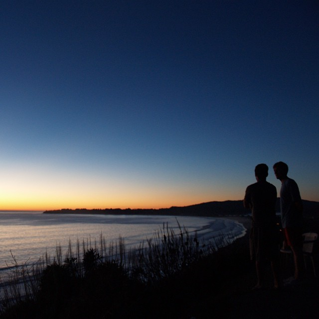 Sunset after climbing near Stinson Beach. Good day.