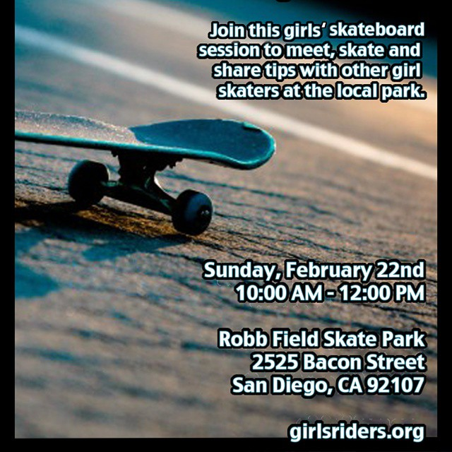 #grorider #sandiego #girlsskateboardsession on Feb 22