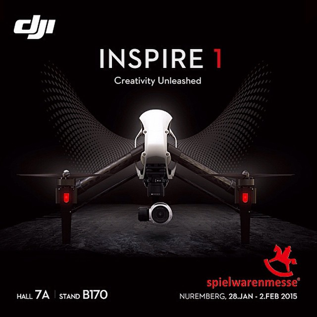 Join us at the #Nuremburg #toyfair!  Hall 7A, Stand B170  #spielwarenmesse #DJI #inspire1 #DJIMoments #DJICreator